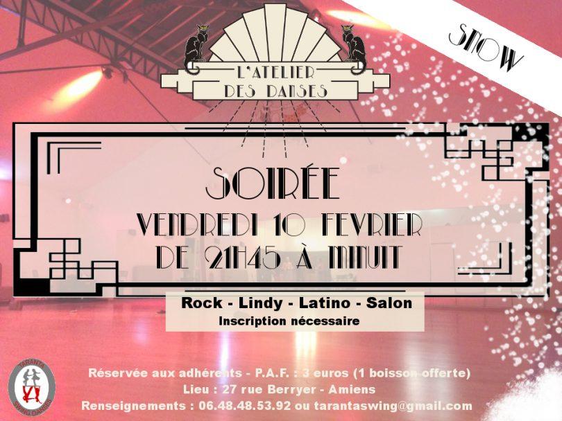 soirée danse Rock, lindy hop, latino, salon