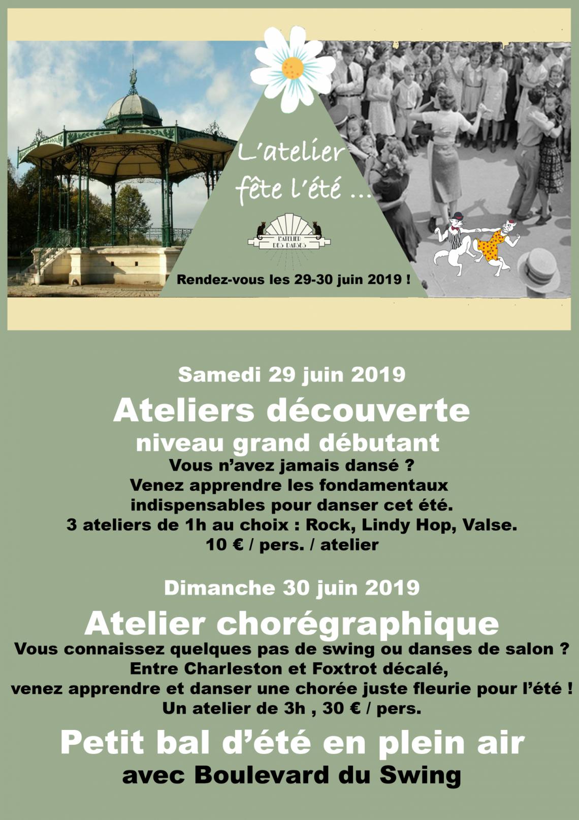 l'atelier fête l'été 2019