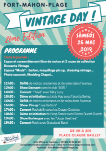 Programme Fort Mahon Vintage Day 2019